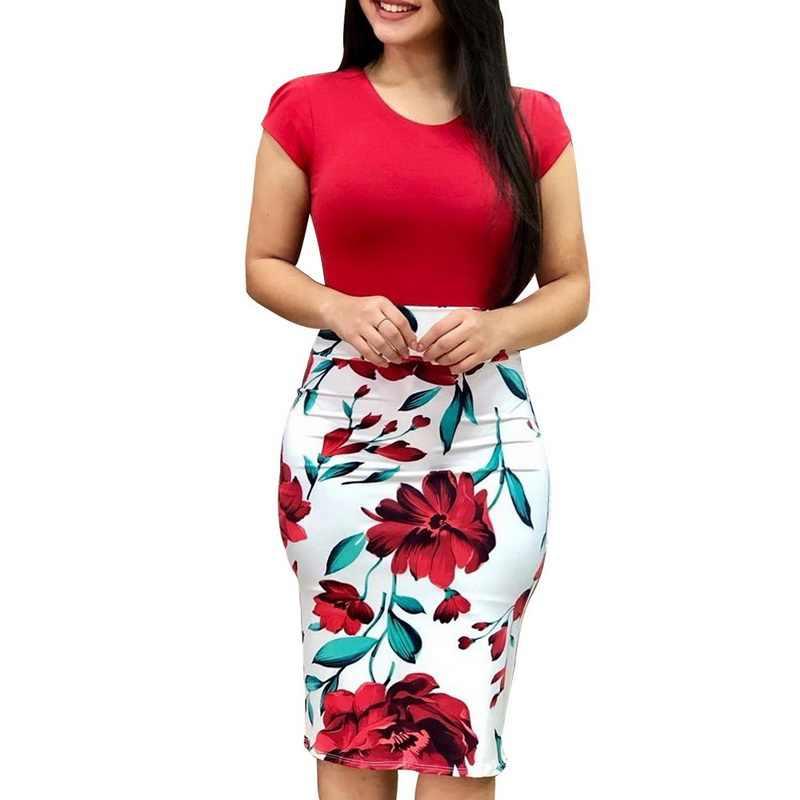 Женское винтажное платье-карандаш Laamei, вечернее облегающее платье с цветочным принтом, вечерние платья, 2019