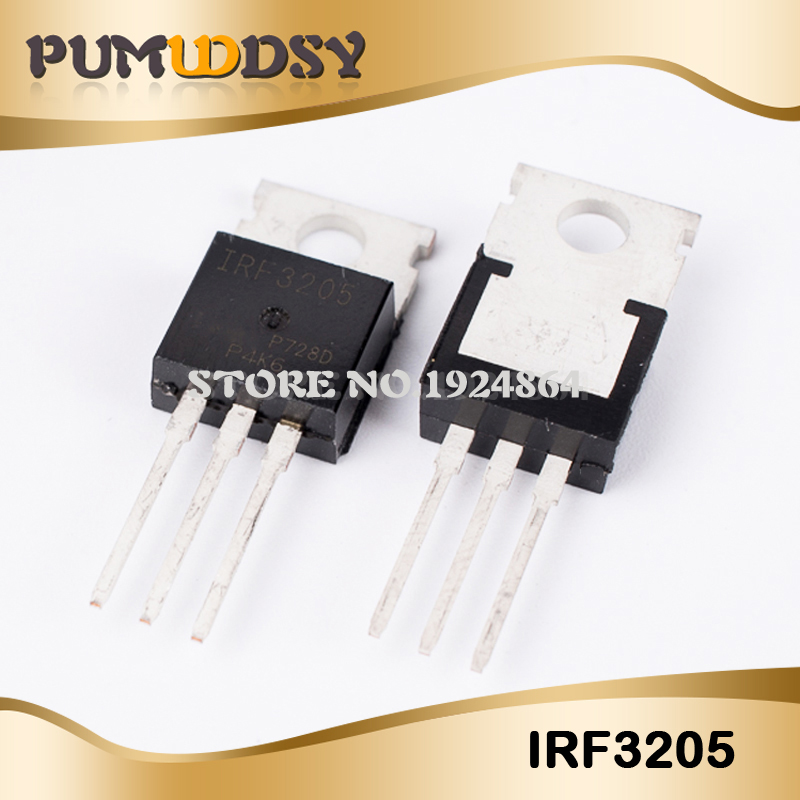 10pcs free shipping IRF3205 IRF3205PBF MOSFET MOSFT 55V 98A 8mOhm 97.3nC TO 220 new original IC-in Integrated Circuits from Electronic Components & Supplies