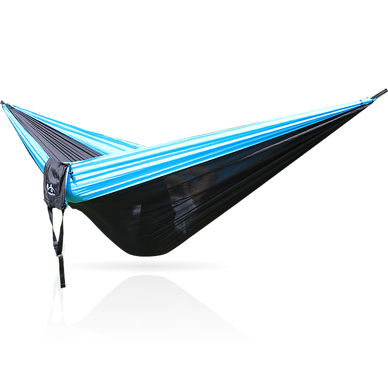 Image 2 - 328 Promotion  320*200cm Large Size Hammock For 2 With   Carabiners For Outdoor Camping Sleeping Hanging Bed Hamak-in Hammocks from Furniture