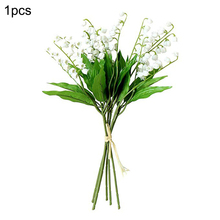 1/6/12pcs Artificial Valley Lily Of The Flowers Bush For Home Garden Wedding Decoration Simulation Fake Flower