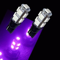 PA LED 10PCS x T10 9SMD 5050 LED Color Red Green White Purple Yellow Blue For Car Auto Reverse Light Bulbs 12V