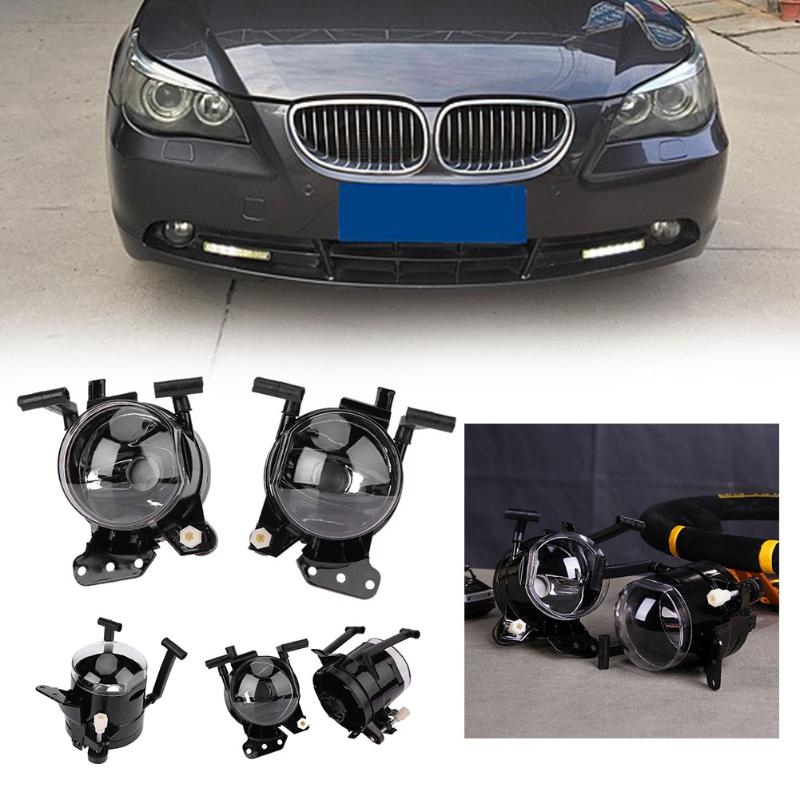 VODOOV Car Auto Front Bumper Right/Left Foglight Replacement Part for 2004-2007 BMW 5 Series E60 Car Styling High Quality car front bumper mesh grille around trim racing grills 2013 2016 for ford ecosport quality stainless steel