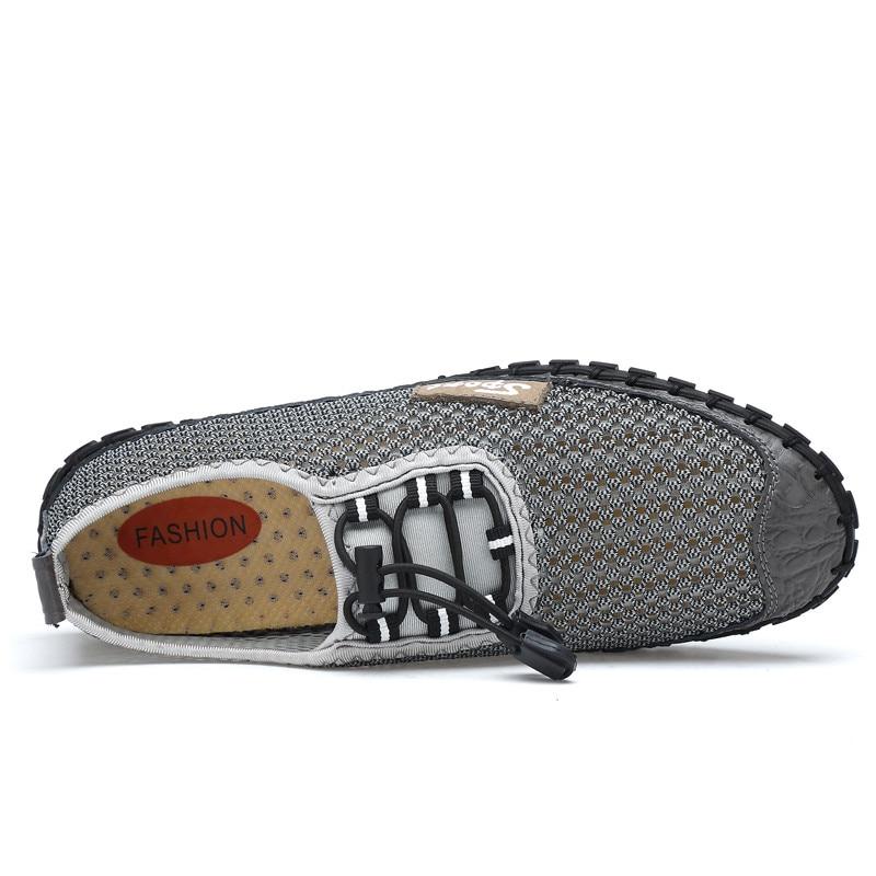brown gray Hombres Malla 2018 Transpirable Blue Zapatos 38 Gran Casual De 46 Verano Tamaño 7fqOn1w