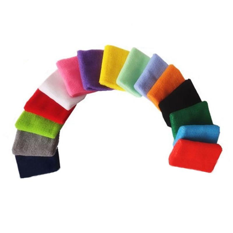 8*15cm Gym Protector Wristbands 100% Cotton Weightlifting Wrist Support Sport Pulseira Wrist Brace Tennis Sweatbands Guard