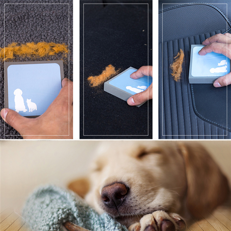 Pet Dog Cat Hair Cleaning Brush Foam Rubber Portable Hand Brush For Cleaning Up Hair Of Pet #3