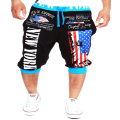 casual mens shorts summer fitness new york american flag printed male short shorts men fashion brand bermuda homens short pants