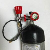 AC109101 Новый 4500Psi 9L композитного углеродного волокна цилиндр воздуха для дайвинга или pcp духовое ружье охота с клапаном и АЗС