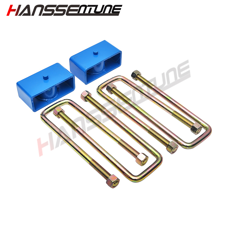 HANSSENTUNE 2 inch U Bolt Leaf Spring Rear Block leveling Lift Kit For Hilux Vigo KUN15/16/25/26 GGN15 diff drop kit for hilux