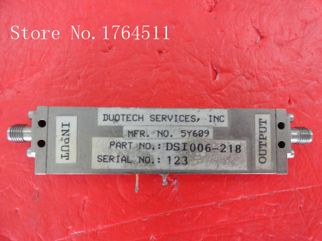 [BELLA] DSI006-218 6-12.4GHz 15V SMA Amplifier