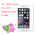for iphone 6 plus tempered glass film screen protector 2.5D round edge with Clean Tools for iphone 6splus 5.5 inch