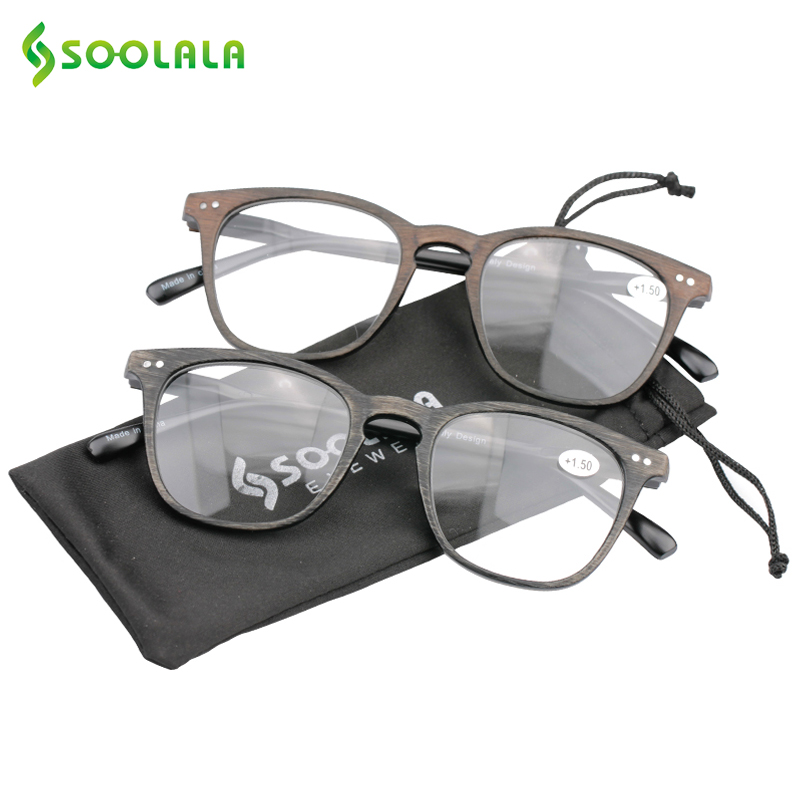 9f906b9f6f SOOLALA Wood Bamboo Rimless Frame Magnifying Reading Glasses +1.0 +1.5 +2.0  +2.5 ...