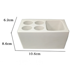 Image 4 - Cement bathroom mold toothbrush holder soap tray cotton swab box Hotel multifunctional concrete gypsum diatom mud silicone mo