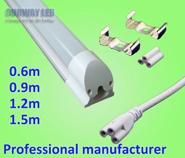 No Lighting fixture LED Tube Light 9W 13W 18w 23W Integrated Fluorescent Replacement, Easy Installation Bar Light For Garage ...