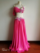 Belly dance eastern diamond embroidery skirts bra dress costume for oriental dance dancing belt for belly dancing suit set 1070