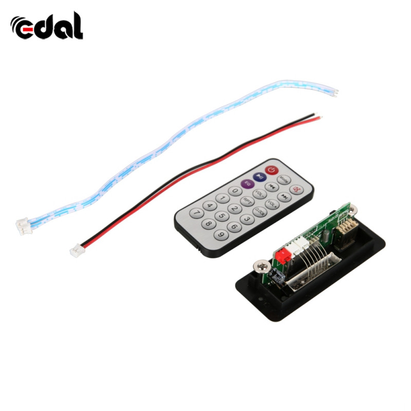 Wireless MP3 Player Decoder Board Audio Module USB TF Radio For Car Red Digital LED With Remote Controller