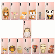 zebra penguin Bear fox Koalas lion bird panda tiger mouse rabbit Hedgehog animal Phone Cases for huawei p8 p9 p10 p20 lite plus