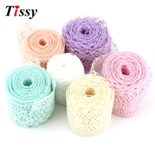 10Yard/Lot New Selling Width35MM  6 Colors Lace Ribbon  DIY Embroidered Net Lace Trim Fabric For Sewing Decoration By Best Price