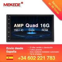 Quad Core 7 2 Din Android 8.1 Car DVD Radio Multimedia Player 1024*600 Universal GPS Navigation autoradio Stereo Audio