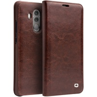 QIALINO For Huawei Mate 10 Pro Case Classic Genuine Leather Auto Wake Sleep Card Slot Cell