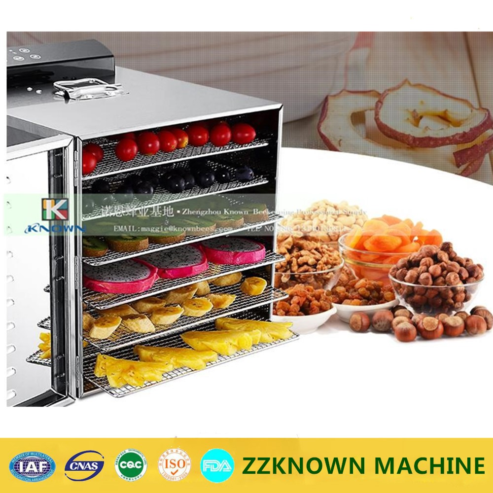 6 layers Stainless steel Fruits dryer machine, dried fruit dryer vegetable beef sausage food drying machine fast shipping food machine 6 layers chocolate fountains commercial chocolate waterfall machine with full stainless steel