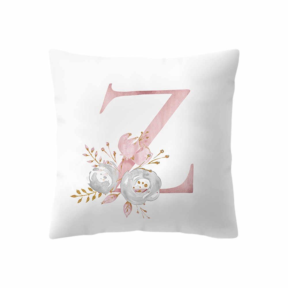 Мода 2019 Роскошные 45x45 см Kinder Zimmer Dekoration короткие Kissen Englisch наволочки с алфавитом Fronha подушки для гостиной