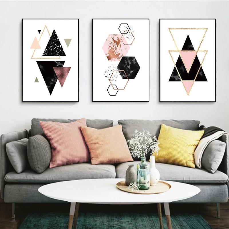 Abstract Modern Geometric Home Decor Printable Geometric Wall Art
