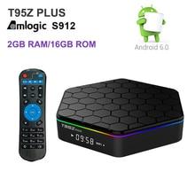 T95Z Plus Android 7.1 TV Box 2 GB RAM 16 GB Amlogic S912 Octa Core iptv Double WiFi 1000 M Gigabit Smart TV Box 3D 4 K Médias lecteur