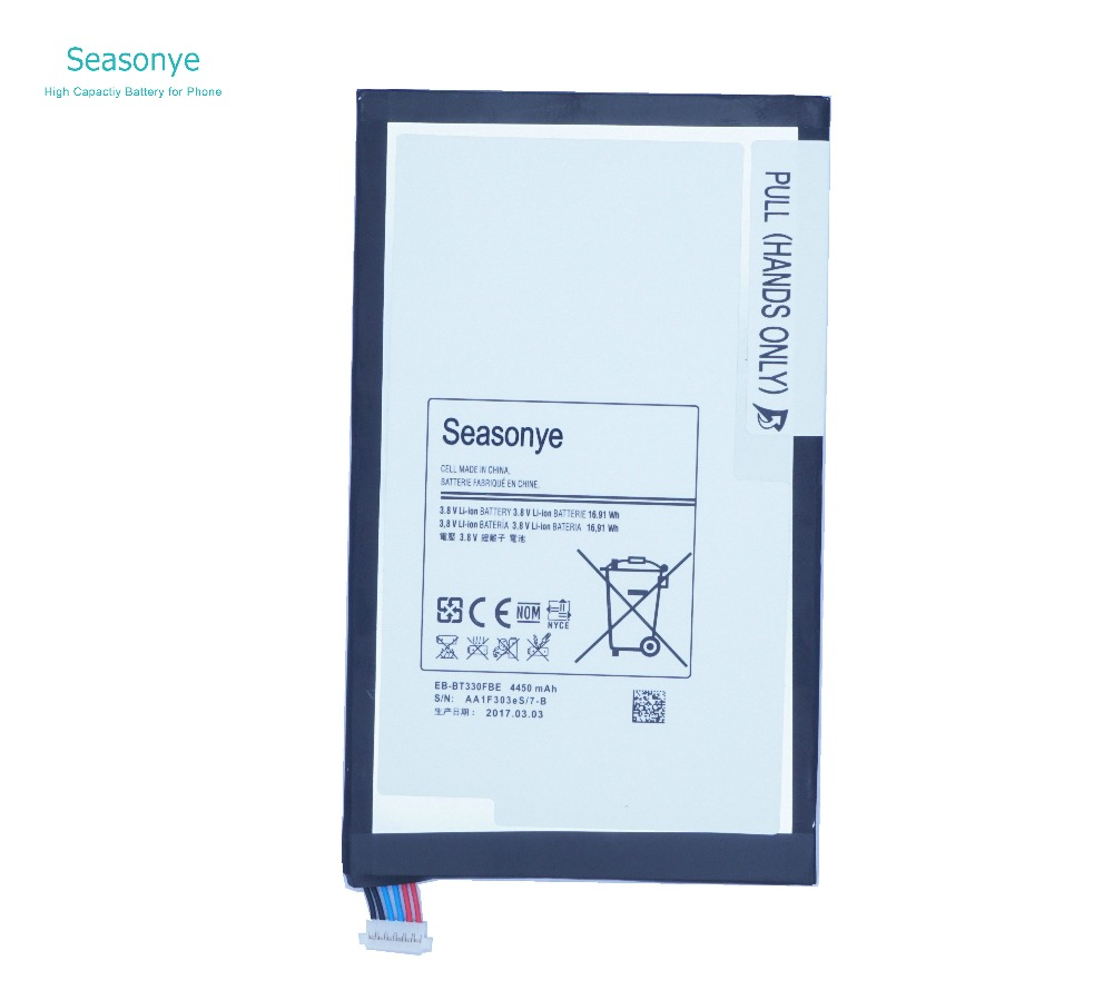 Seasonye 4450 mAh 16.91Wh EB-BT330FBU EB-BT330FBE Batterie De Remplacement Pour Samsung Galaxy Tab 4 8.0 T330 T331 T335 SM-T330 SM-T331Seasonye 4450 mAh 16.91Wh EB-BT330FBU EB-BT330FBE Batterie De Remplacement Pour Samsung Galaxy Tab 4 8.0 T330 T331 T335 SM-T330 SM-T331