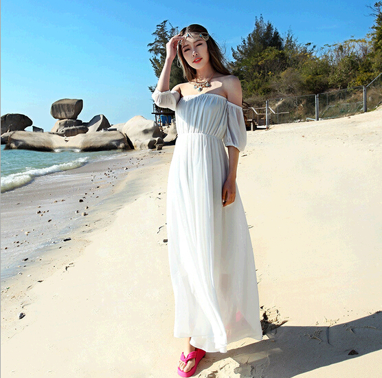 Compare Prices on White Beach Maxi Dresses- Online Shopping/Buy ...