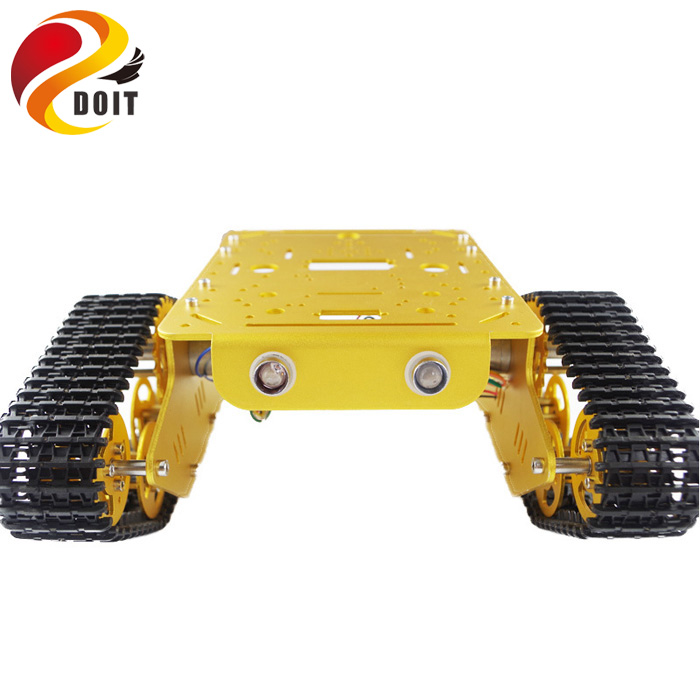 DOIT T300 RC Metal Robot Tank Car Chassis Crawler for arduino Tracked Caterpillar Track Chain Vehicle Platform Tractor Toy kit doit ts100 metal shock absorber robot tank chassis tracked vehicle track car crawler caterpillar for arduino diy rc toy teach