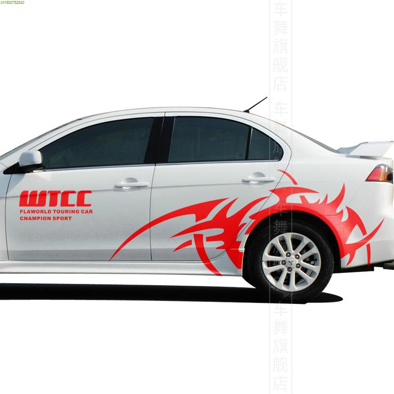 Rally Wtcc Car Sticker And Decal Car Styling For Mitsubishi Lancer 9