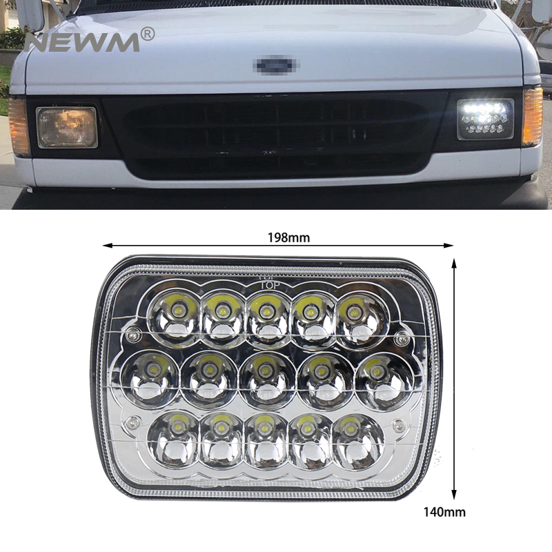 5''x7'' Led Headlights with Hi/Lo Beam for Jeep Wrangler YJ Cherokee XJ H6054 H5054 H6054LL 69822 6052 6053