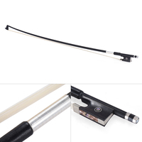 High Quality Well Balanced Carbon Fiber 4/4 Violin Fiddle Bow Round Stick Exquisite Horsehair Ebony Frog