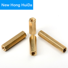M2.5 Hex Brass Female Female Standoff Stud Board Metric Hexagonal Threaded Pillar PCB Motherboard Spacer Hollow Bolt Screw Nut m2 brass male female standoff pillar mount threaded pcb motherboard pc computer round spacer hollow bolt screw long nut