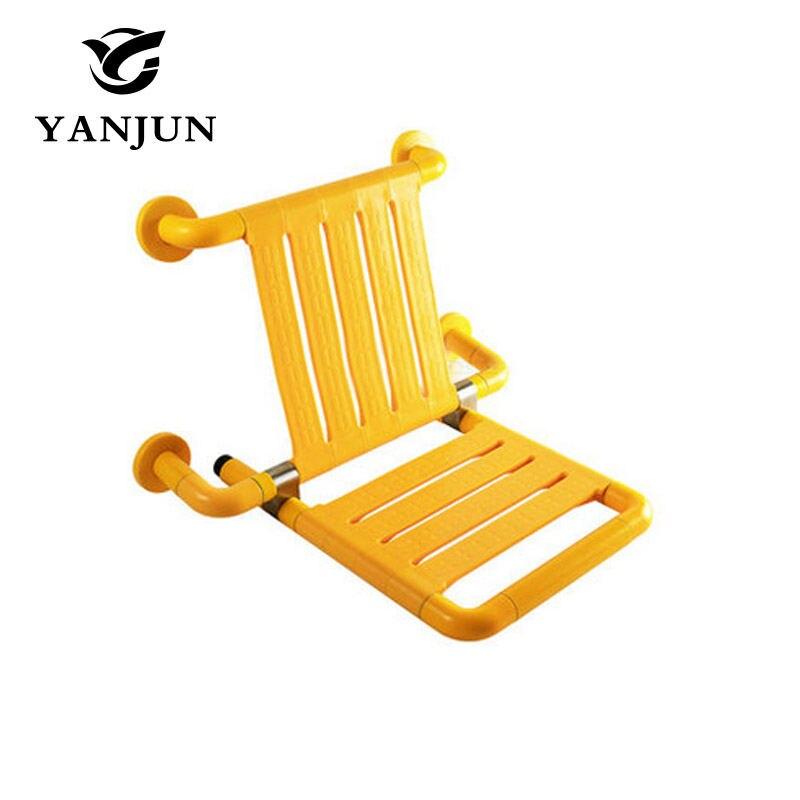 Yanjun Wall Mounted Bath Shower Seat With Legs Folds Away Spa Bench ...