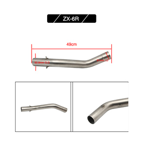 Image 5 - Alconstar  Motorcycle Exhaust Muffler Middle Pipe Link Pipe Slip on For Kawasaki Z750 Z800 Z1000 ZX6R ZX 6R ZX10R ZX 10R Racing