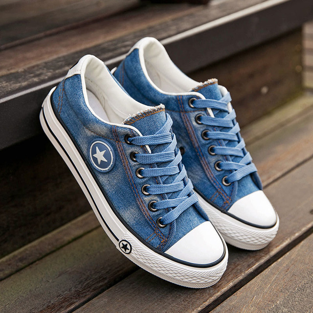 DAESPHETEL canvas running Shoes female spring summer blue sport shoes women students