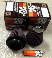 High flow universal motor motorcycle car Cold Air Intake Filter Cleaner with 52/64/70/76mm neck, 98/140mm height