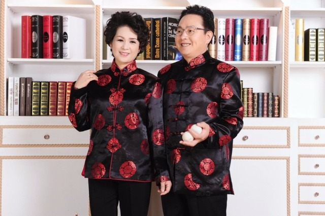 Shanghai Story Traditional chinese clothing for men Top tang suit New Year Gift Party Chinese Tops For Couple