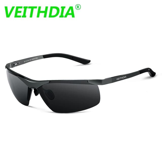 VEITHDIA Aluminum Magnesium 2018 New Men Brand Designer Driving Polarized Sunglasses Glasses Color Film Sun Goggles Eyeglasses 2