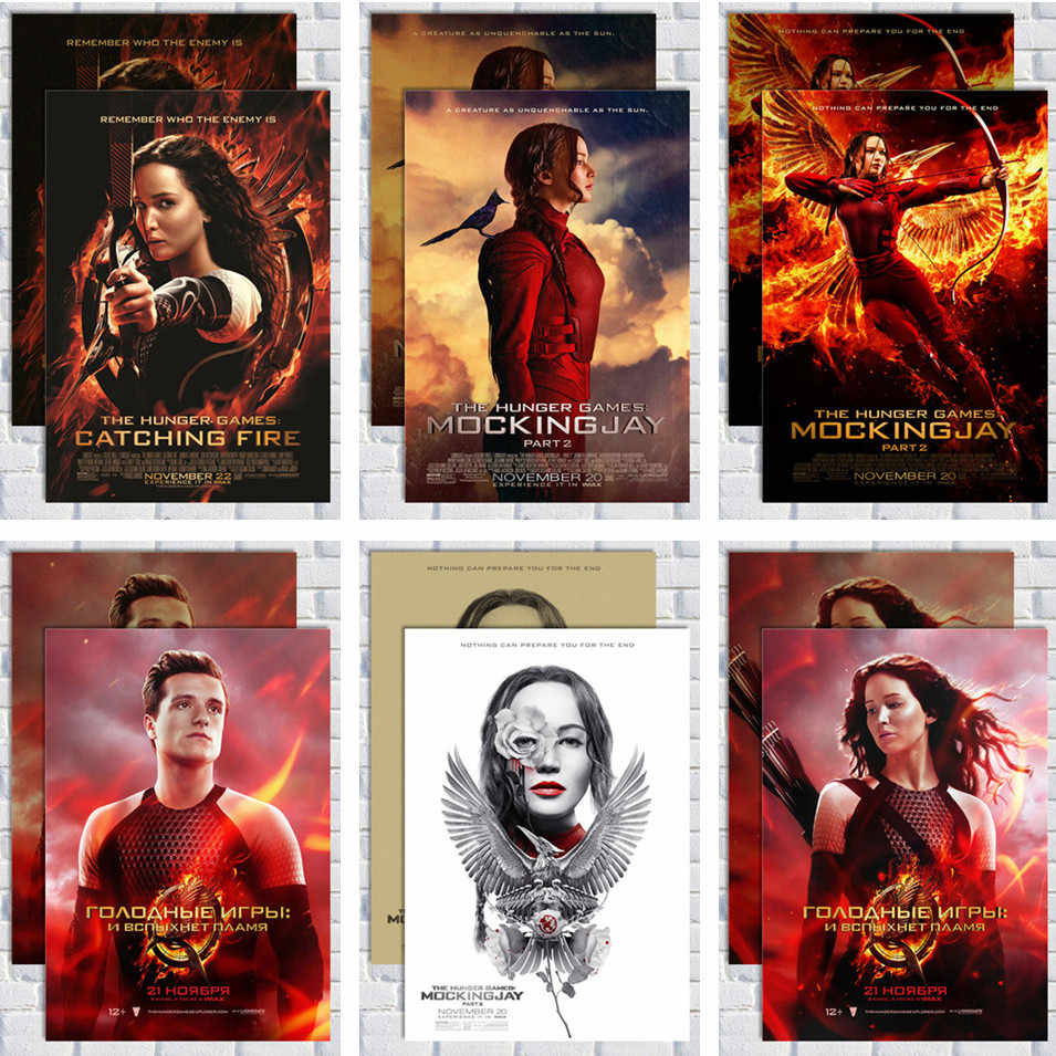 The Hunger Games/Kraft Kertas/Stiker Dinding/Poster Bar Cafe/Retro Poster/Lukisan Dekoratif