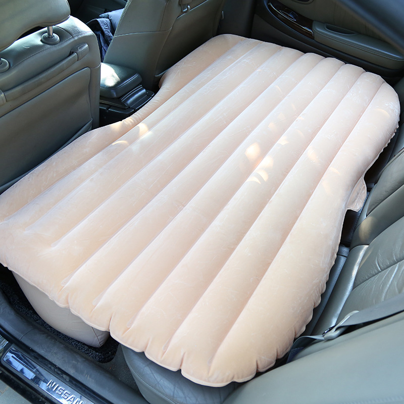 Hot sale Universal Car Travel Bed Car Back Seat Cover Inflatable Mattress Car Air Bed For Camping Car Sex Bed drive travel deflatable air inflation bed mattress suv camping pvc material car seat cover cushion with car electric air pump