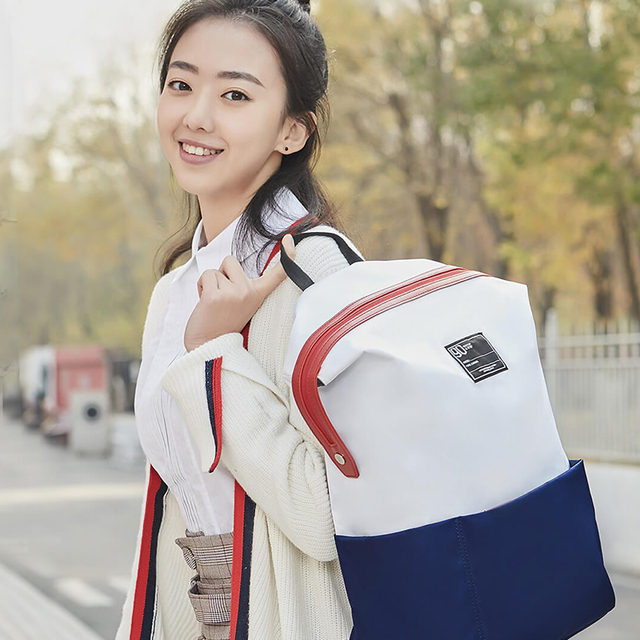Xiaomi Casual Backpack Young Unsex Solid Anti-Rain Waterproof Polyester Backpacks Travel Bag Universal Bags College Laptop Bag