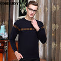 2016 Autumn Winter Long Sleeve Fashion Slim Fit Sweater Men Knitted Wool Cashmere Sweaters Brand O-Neck Pullover Men Factory OEM