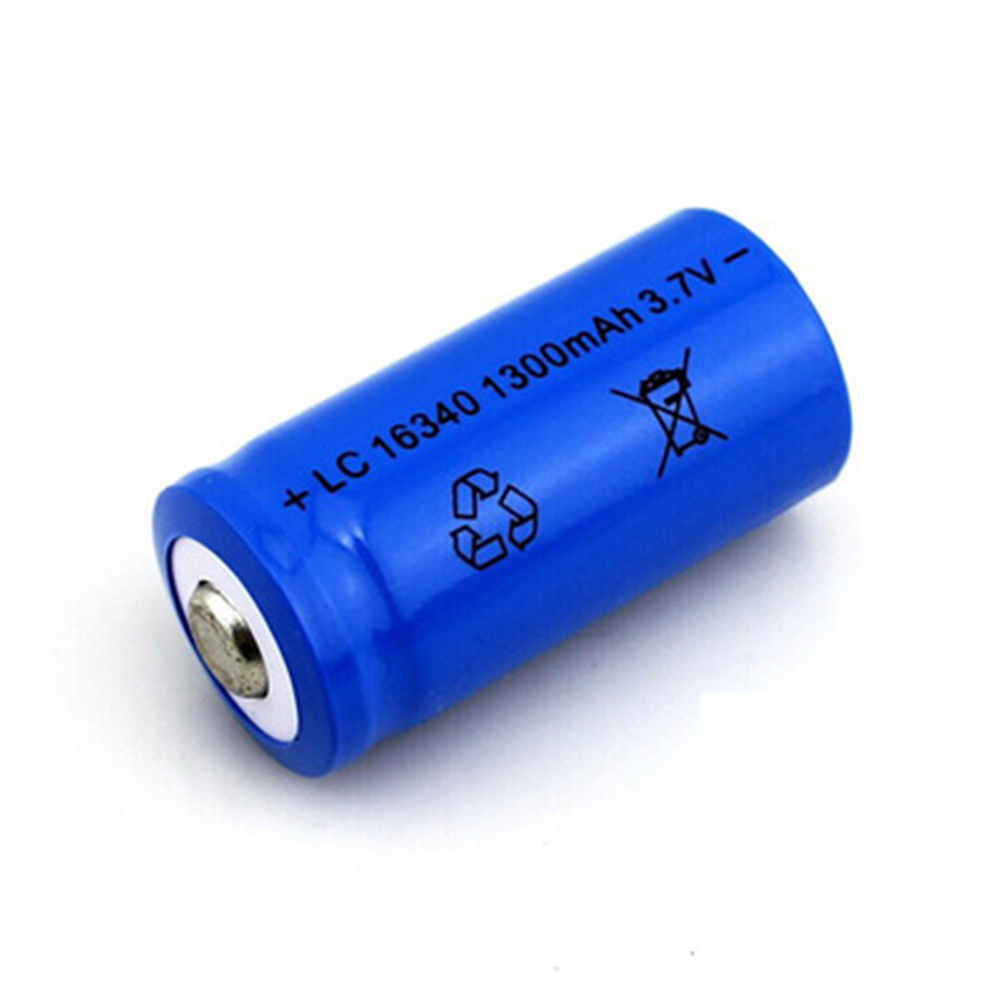 4pcs/set 16340 battery 3.7V 1300mAh Rechargeable Li-ion Battery for toy / Led Flashlight batery litio battery Wholesale