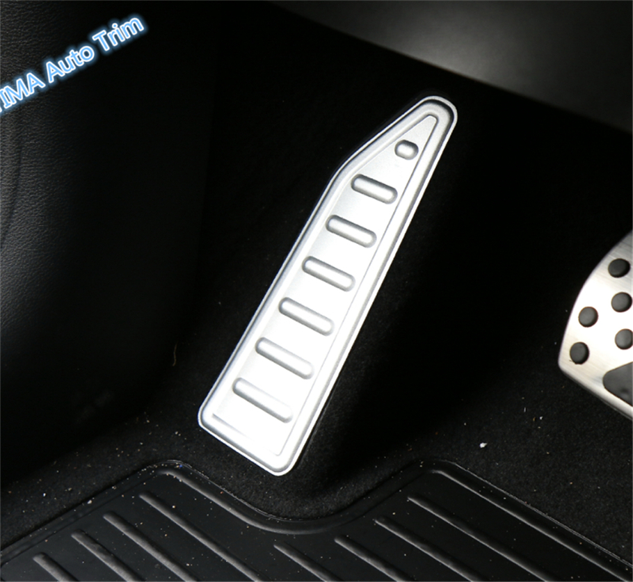 Lapetus Car Styling Left Side Foot Pedal Rest Plate Cover Trim 2 Colors Fit For Jeep