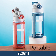 OHFIN 720ML Sports Water Bottles With Handle Large Capacity Protable Healthy Plastic Outdoor Travel Bottle My Drink