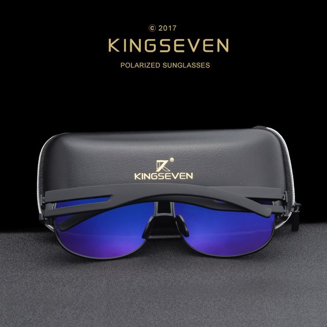 KINGSEVEN Men Classic Brand Sunglasses Luxury Aluminum Polarized Sunglasses EMI Defending Coating Lens Male Driving Shades N7806 2
