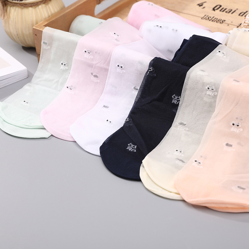 Summer Lace Kids Girls Silk Stockings Cute Cat Printed Candy Color for Baby Children Beautiful Silk Pantyhose Stocking TightsSummer Lace Kids Girls Silk Stockings Cute Cat Printed Candy Color for Baby Children Beautiful Silk Pantyhose Stocking Tights