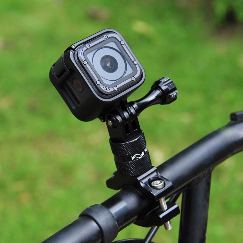 PULUZ 360 Degree Rotation Bicycle Aluminum Handlebar <font><b>Adapter</b></font> Mount with Screw for GoPro HERO5 Session <font><b>5</b></font> 4 Session 4 <font><b>3</b></font>+ <font><b>3</b></font> <font><b>2</b></font> 1 image